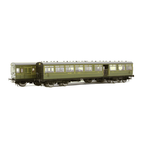 E86002 LSWR Gate Stock 2-Coach Set in SR Maunsell Green