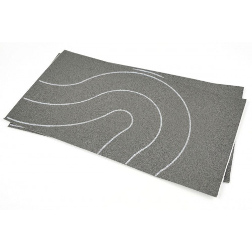 GM376 Self Adhesive Tarmac Road Universal Curves OO (68mm) 2pcs