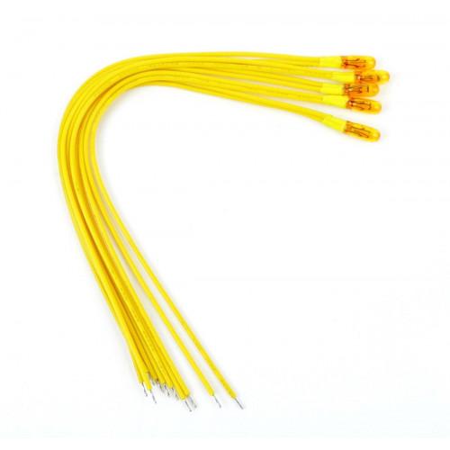GM69 Yellow 12v Grain of Wheat Bulbs (5)
