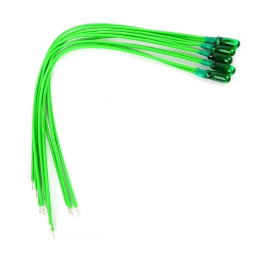GM72 Green 12v Grain of Wheat Bulbs (5)