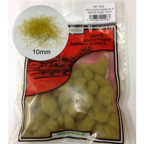 JHG9 15g Bag of Static Hairy Grass 10mm Winter Grass