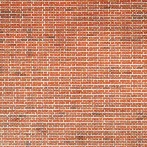 M0054 Metcalfe 00 Gauge Red Brick