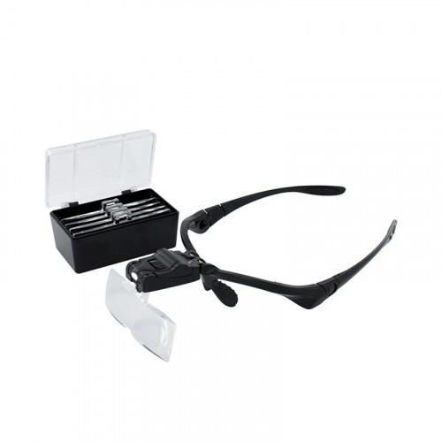 MM013 ModelMaker LED Head Magnifier with 5 Lenses