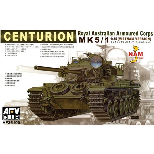 AFV Club PKAF35100 1:35 Scale Centurion Mk 5/1 Tank