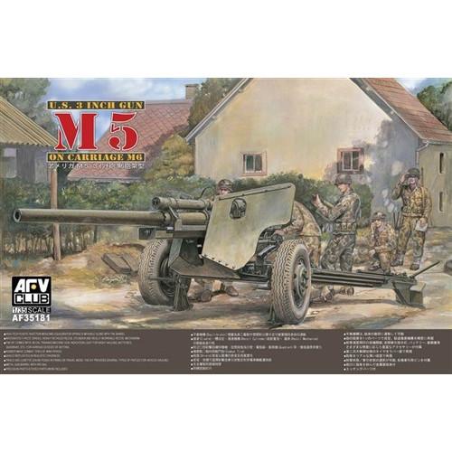 AFV Club PKAF35181 1:35 Scale M5 105mm Howitzer Gun on M6 Carriage