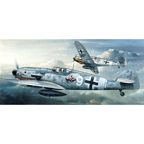 Academy PKAY12467 1:72 Scale Me Bf 109G  Aircraft