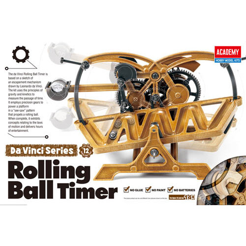 Academy PKAY18174 Da Vinci Rolling Ball Timer