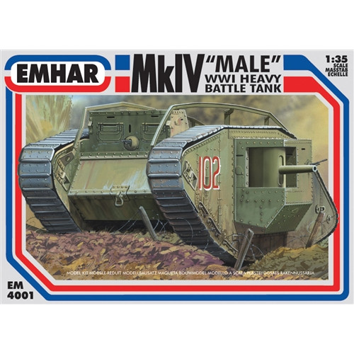 Emhar PKEM4001 1:35 Scale Mk IV 'Male' WWI Heavy Battle Tank