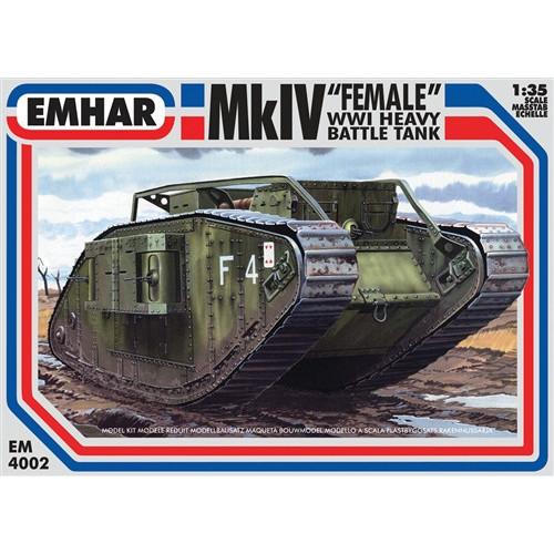 Emhar PKEM4002 1:35 Scale Mk IV 'Female' WWI Heavy Battle Tank