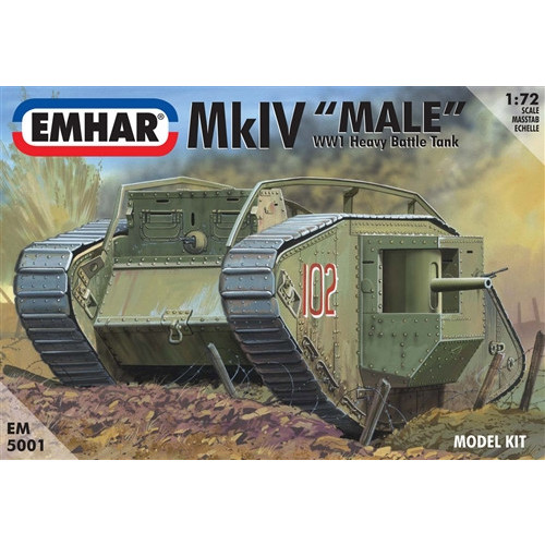 Emhar PKEM5001 1:72 Scale Mk IV 'Male' WWI Heavy Battle Tank