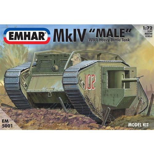 Emhar PKEM5001 1:72 Scale Mk IV 'Male' WWI Heavy Battle Tank