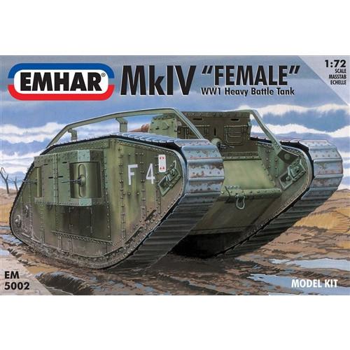 Emhar PKEM5002 1:72 Scale Mk IV 'Female' WWI Heavy Battle Tank