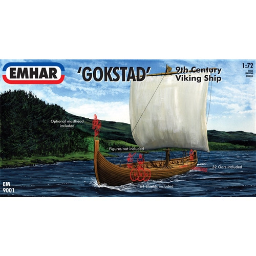 Emhar PKEM9001 1:72 Scale Viking Ship