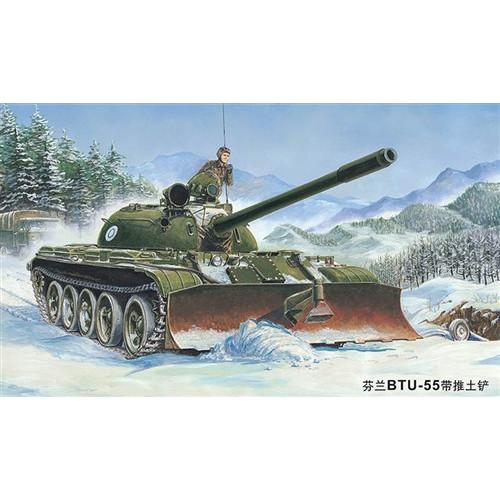 Trumpeter PKTM00313 1:35 Scale T-55 Russian Tank w/BTU-55