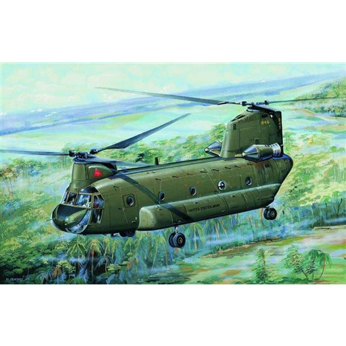 Trumpeter PKTM01621 1:72 Scale CH-47A Chinook Helicopter