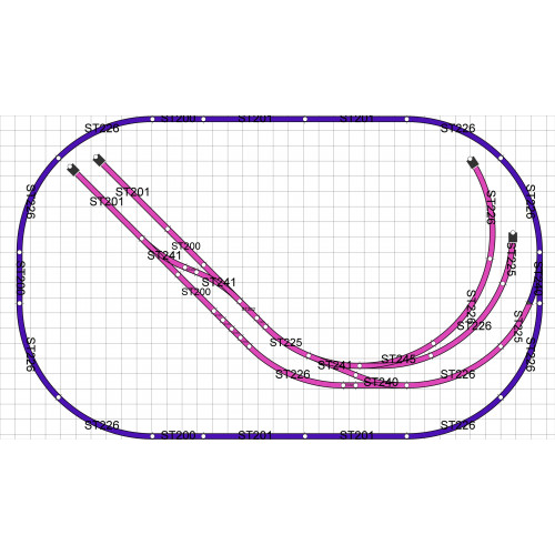 Plan 1 - 00 Gauge Oval with Sidings 6' x 3'6""