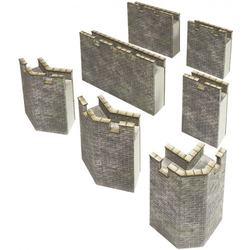 PN193 N Gauge Castle Curtain Walls