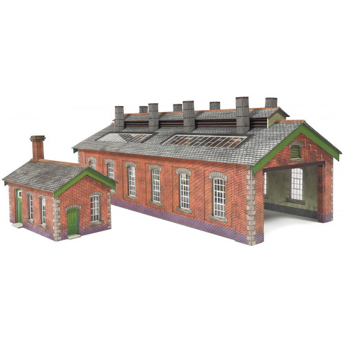 PN913 Metcalfe N Gauge Red Brick Double Track Engine Shed