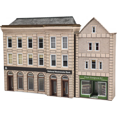 PN971 Metcalfe N Gauge Bank & Shop - Low Relief
