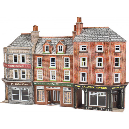 PN972 Metcalfe N Gauge Pub & Shop - Low Relief