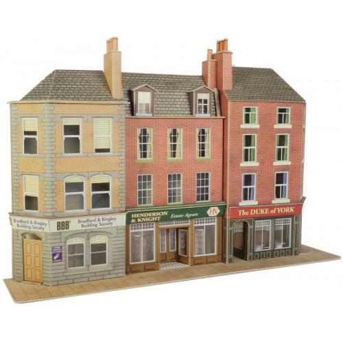 PO205 Metcalfe 00 Gauge Gauge Pub & Shop - Low Relief