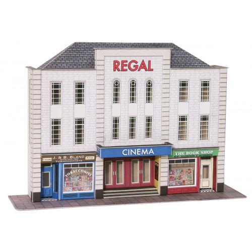 PO206 Metcalfe 00 Gauge Cinema & Shops - Low Relief