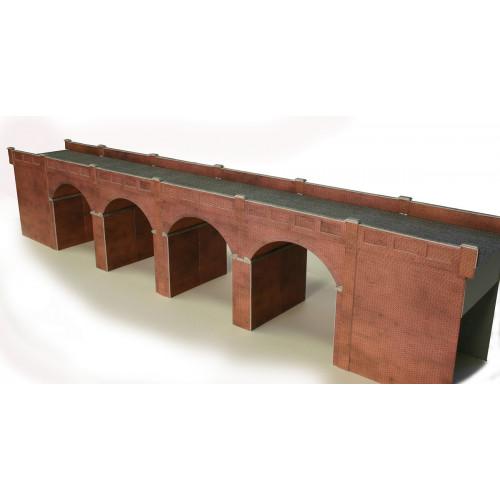 PO240 Metcalfe 00 Gauge Double Track Red Brick Viaduct