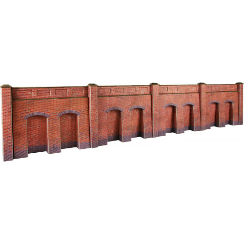 PO244 Metcalfe 00 Gauge Red Brick Retaining Wall