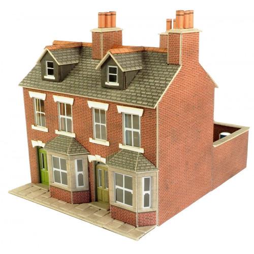 PO261 Metcalfe 00 Gauge Red Brick Terraced Houses
