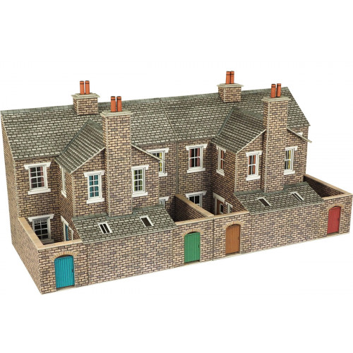 PO277 Metcalfe 00 Gauge Stone Terraced House Backs - Low Relief
