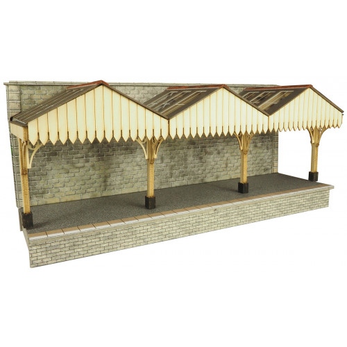 PO341 Metcalfe 00 Gauge Wall Backed Platform Canopy