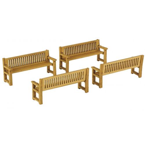 PO503 Metcalfe 00 Gauge Park Benches
