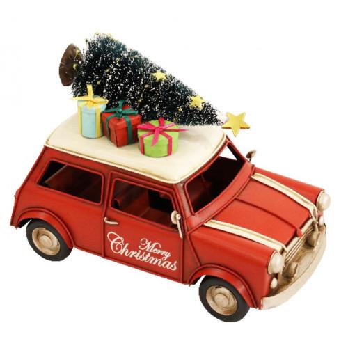 PXM3025 Vintage Christmas Mini with LED Lights (160 x 75 x 110mm)