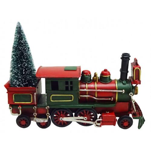 PXM3040 Vintage Christmas Train Locomotive with LED Lights (330 x 160 x 205mm)