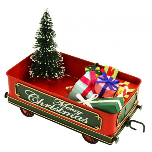 PXM3041 Vintage Christmas Train Carriage with LED Lights (225 x 105 x 175mm)