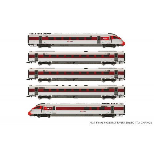 R3762 Hitachi IEP Bi-Mode Class 800/1 LNER Azuma Five Car Train Pack