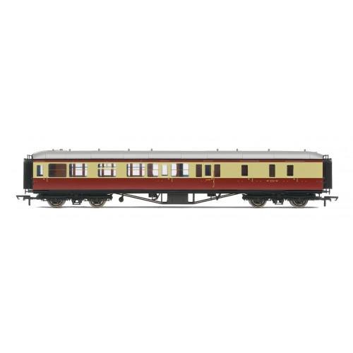 R4406B BR Hawksworth Brake 3rd Class No.W2251W in Crimson & Cream