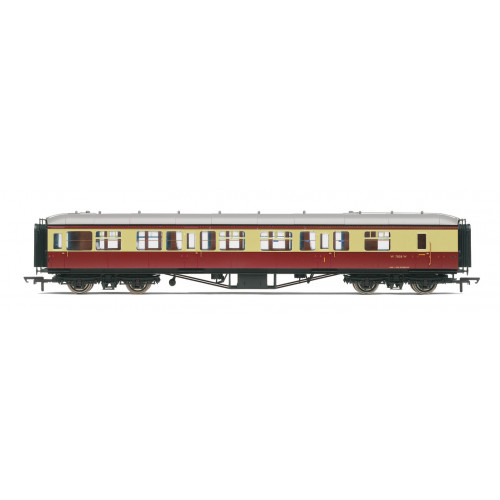 R4408B BR Hawksworth Composite Brake Coach No.W7858W in Crimson & Cream