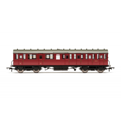 R4521C 51' Gresley Non-Vestibule Suburban Composite Coach E88067E in BR Crimson