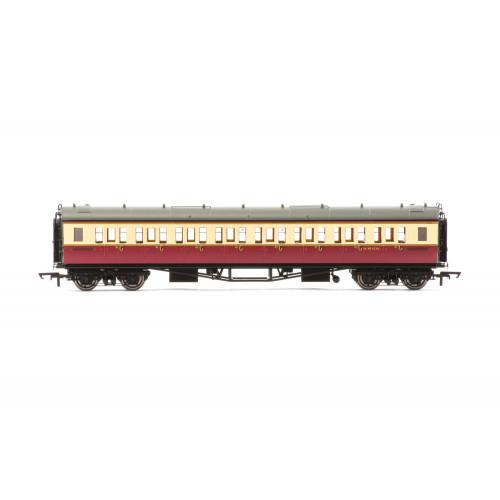 R4684A Collett 'Bow-Ended' Corridor Third Coach No.W4910W in BR Crimson & Cream