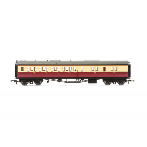 R4686A Collett 'Bow-Ended' Corridor Brake Third (Left Hand) Coach No.W4926W in BR Crimson & Cream