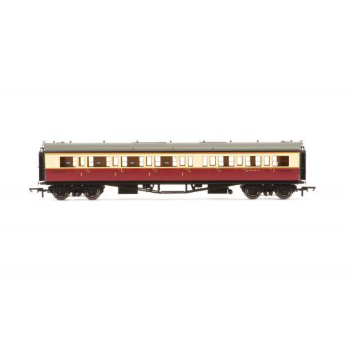 R4687A Collett 'Bow-Ended' Corridor Composite (Left Hand) Coach No.W6146W in BR Crimson & Cream