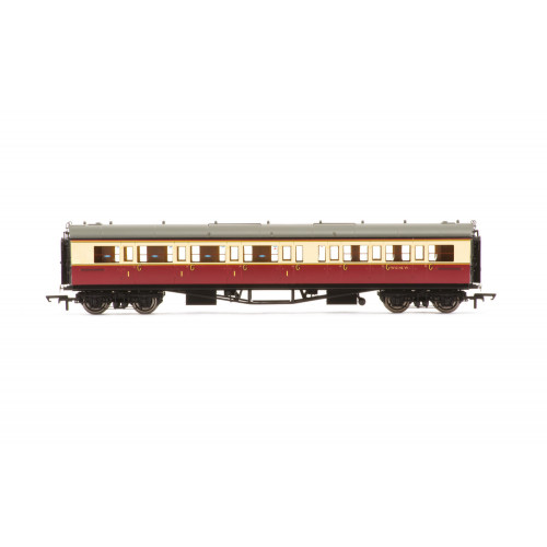 R4687A Collett 'Bow-Ended' Corridor Composite (Left Hand) Coach No.W6146W in BR Crimson & Cream