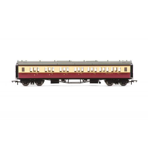R4688A Collett 'Bow-Ended' Corridor Composite (Right Hand) Coach No.W6145W in BR Crimson & Cream