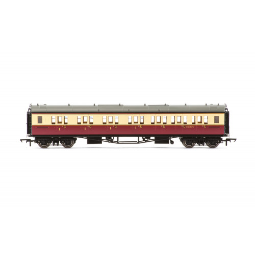 R4688A Collett 'Bow-Ended' Corridor Composite (Right Hand) Coach No.W6145W in BR Crimson & Cream