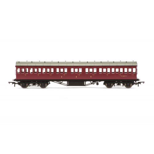 R4689A 57' Stanier Non-Corridor Composite Coach No.M16587M in BR Crimson