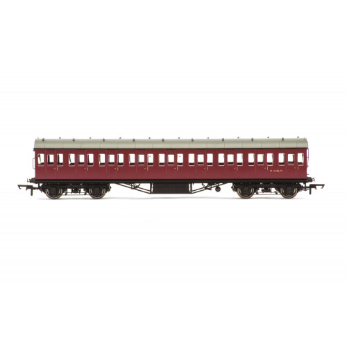 R4690A 57' Stanier Non-Corridor Third Class Coach No.M11886M in BR Crimson