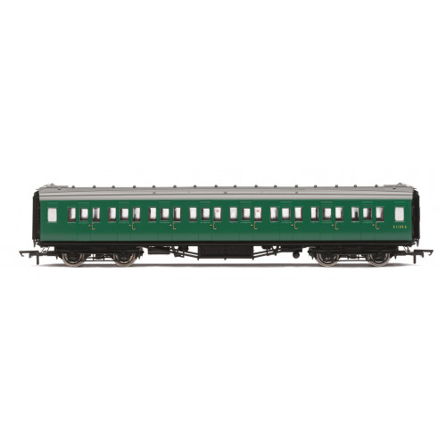 R4834 BR (ex SR) Maunsell Corridor Second Class Coach No.S1113S in BR Southern Green