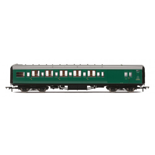 R4836 BR (ex SR) Maunsell 6 Compartment Brake Second Class Coach No.S2763S in BR Southern Green