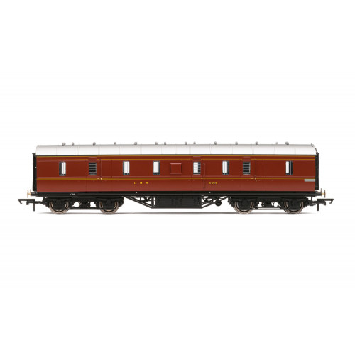 R4843 Period III 50' Gangwayed Passenger Brake Coach No.31010 in LMS Crimson Lake